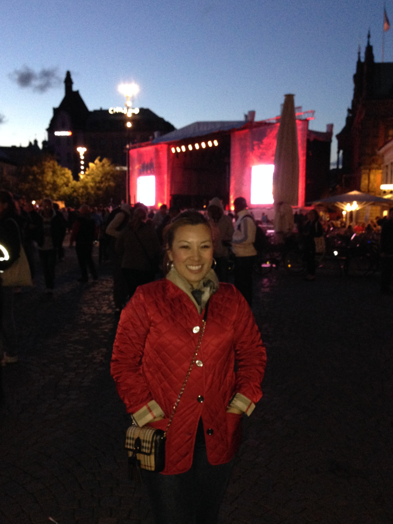 Chilly night out at the festival!